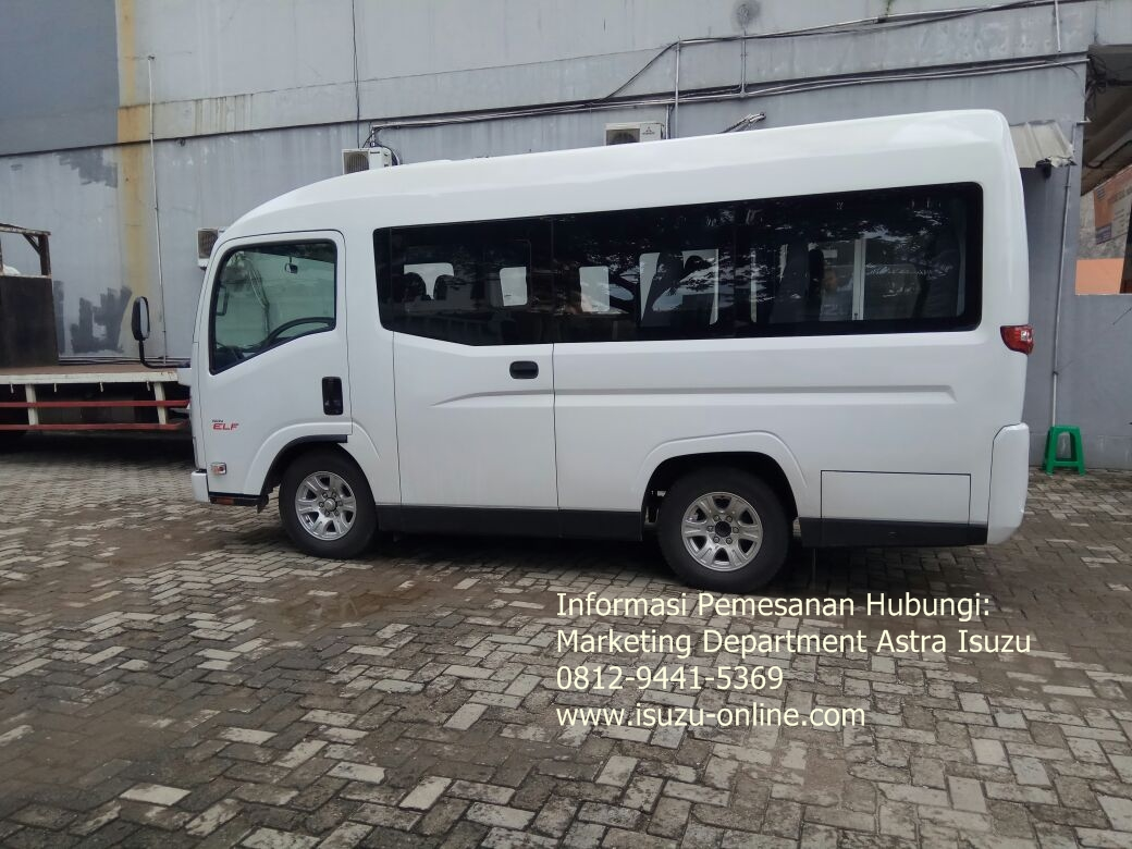 Harga Isuzu Elf NLR 55 BX New Armada Microbus Kaca Bonding
