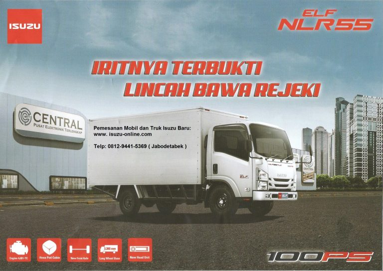 Harga Truk Isuzu Elf NLR 55 100 PS Engkel 4 roda/ban